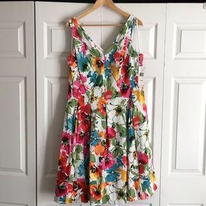 NWT Lauren Ralph Lauren Floral Print Dress
